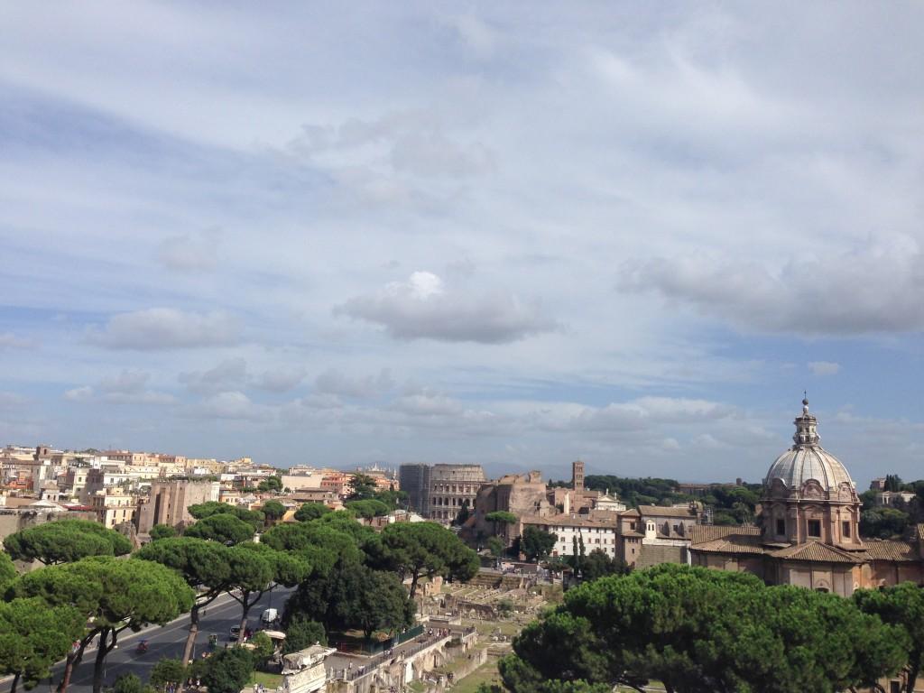 Roman Forum'dan bir manzara