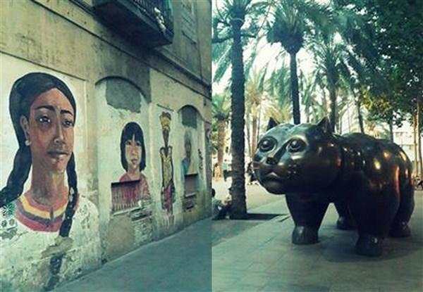 Bronzdan yapılan heykel Los Angeles, New York, Tokyo gibi dünyanın bir çok önemli şehrinde de sergilendikten sonra Kolombiyalı dünyaca ünlü ressam-heykeltraş Fernando Botero tarafından Barselona şehrine hediye edilmiş.