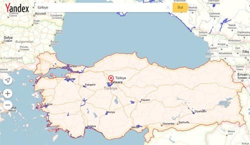 Yandex Street View Türkiye ağı