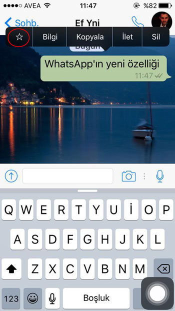 whatsapp mesaj isaretleme iphone-ve-android-icin