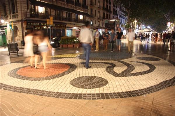 La Rambla- Miro mosaic